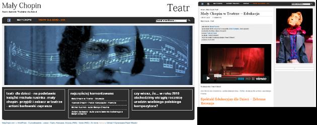 Strona WWW Promocja teatralna