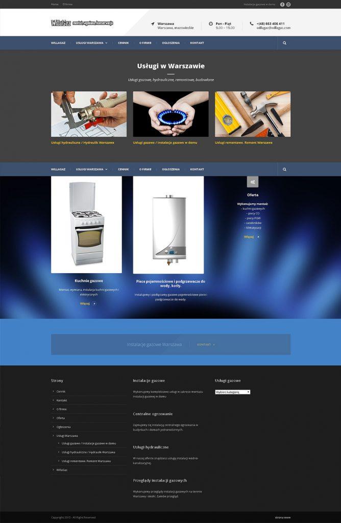 strona internetowa cms wordpress