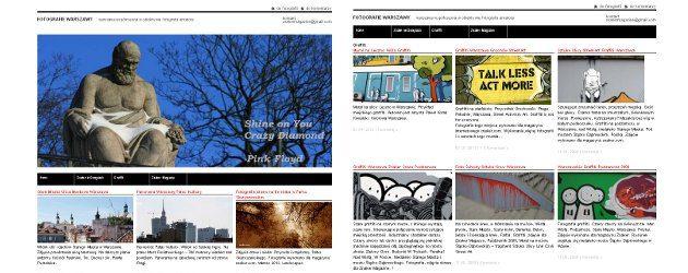 Strona WWW projekt portfolio