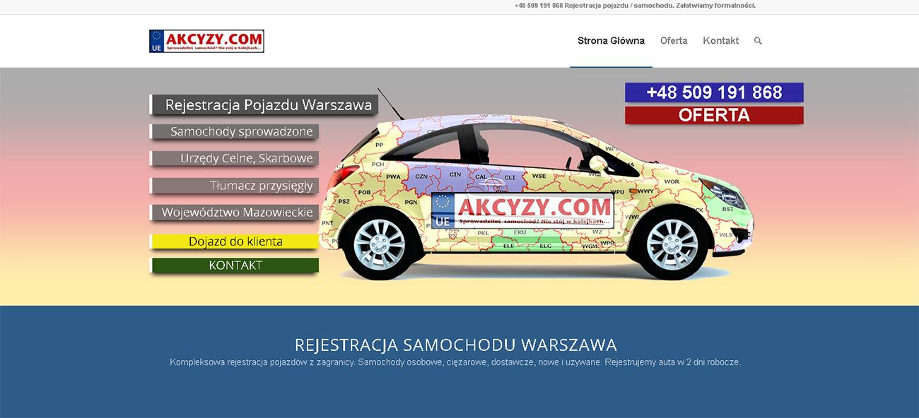 strony www warszawa samochody
